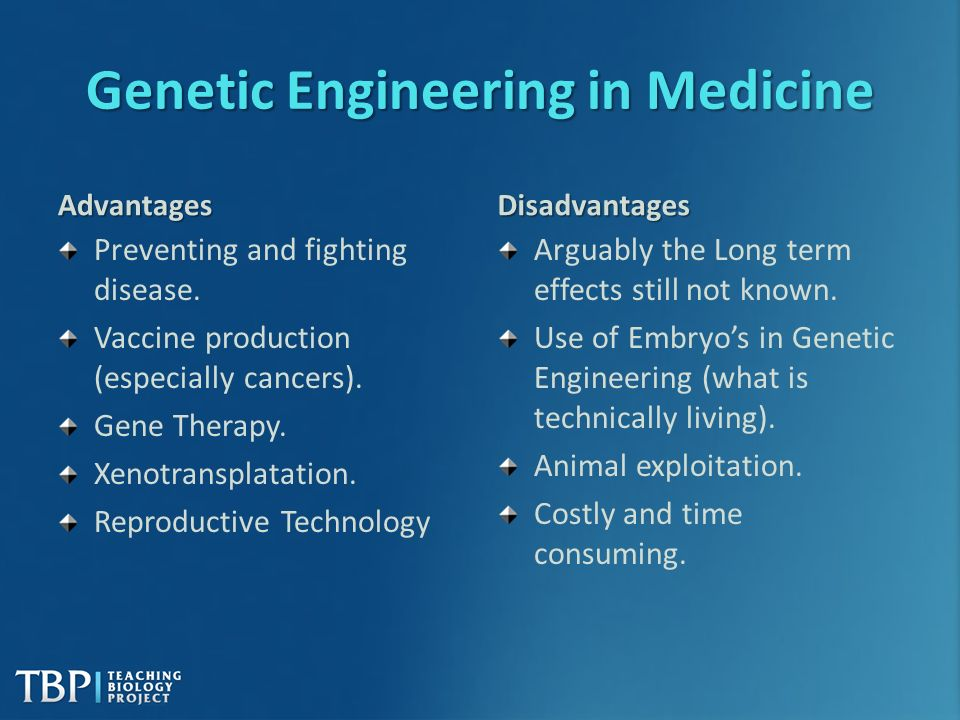 Benefits of Human Genetic Engineering