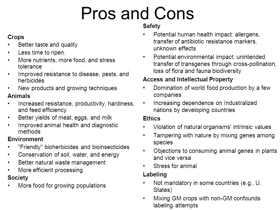 a look at the pros and cons of genetics