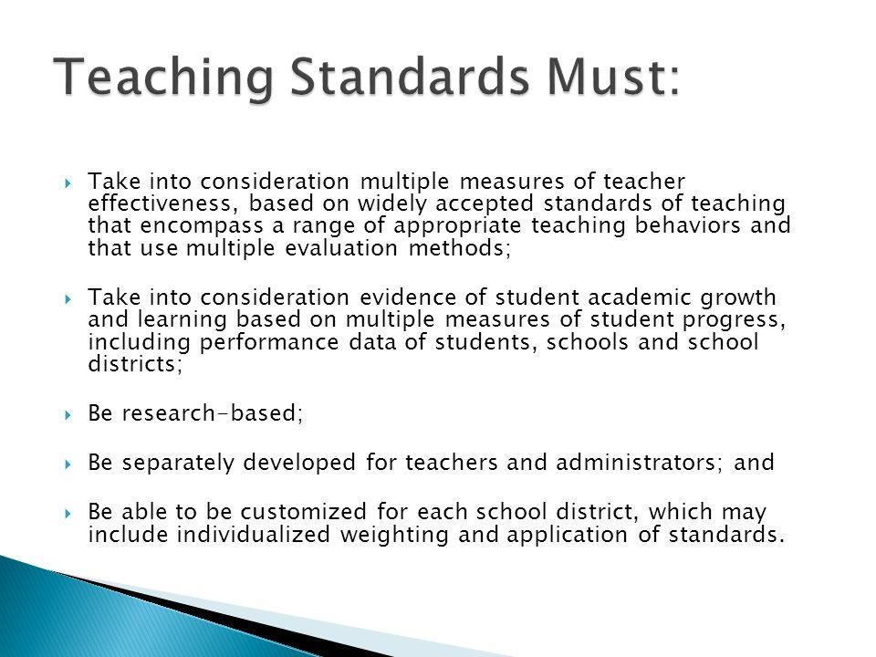 Teaching Standards Must: