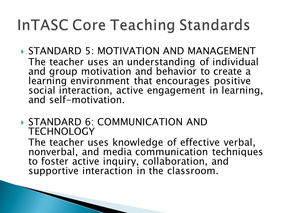 InTASC Core Teaching Standards