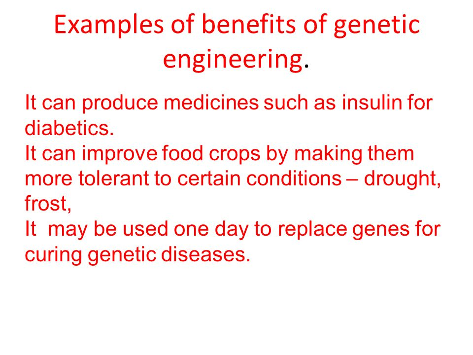 the importance of genetic engineering in curing diseases