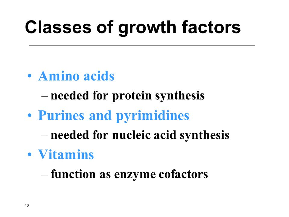 Classes of growth factors