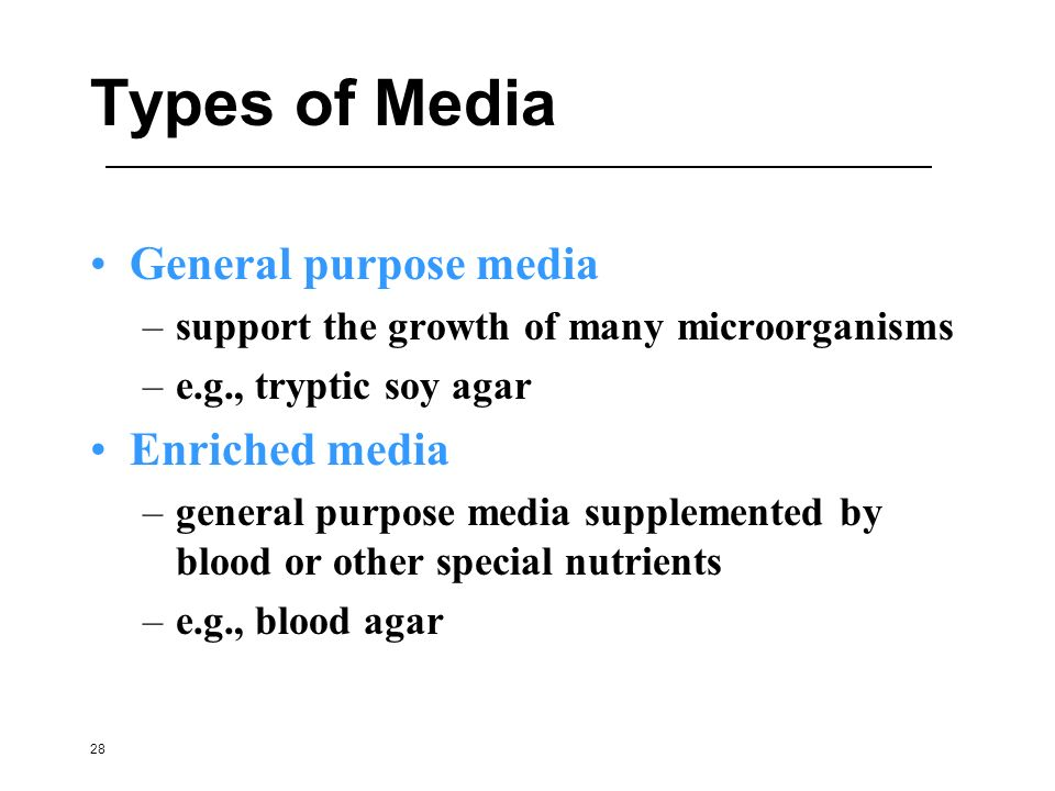 Types of Media General purpose media Enriched media