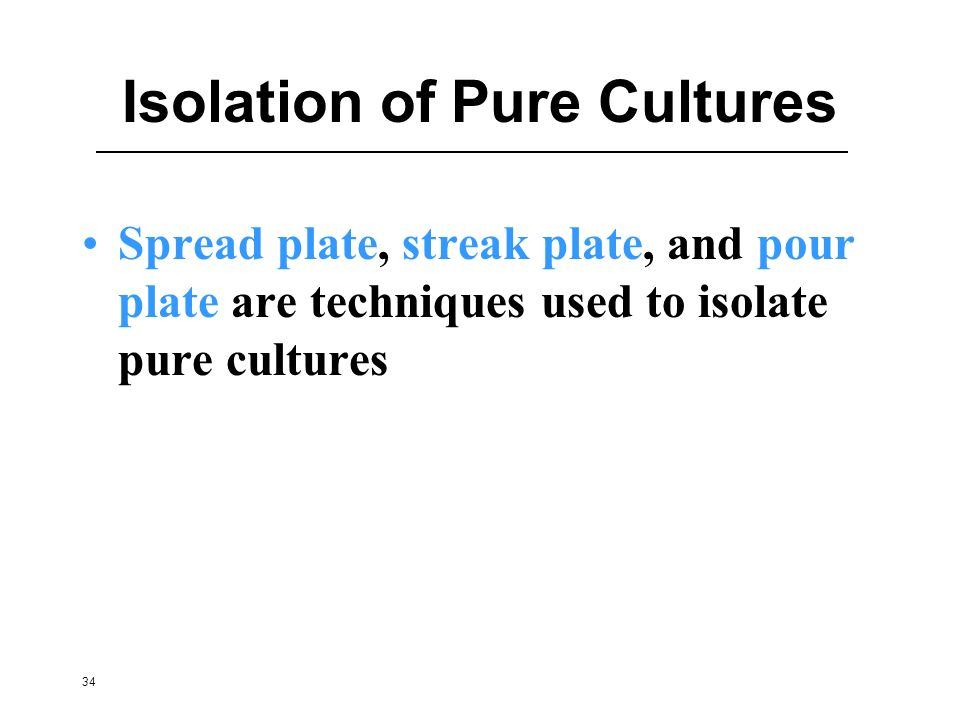 Isolation of Pure Cultures