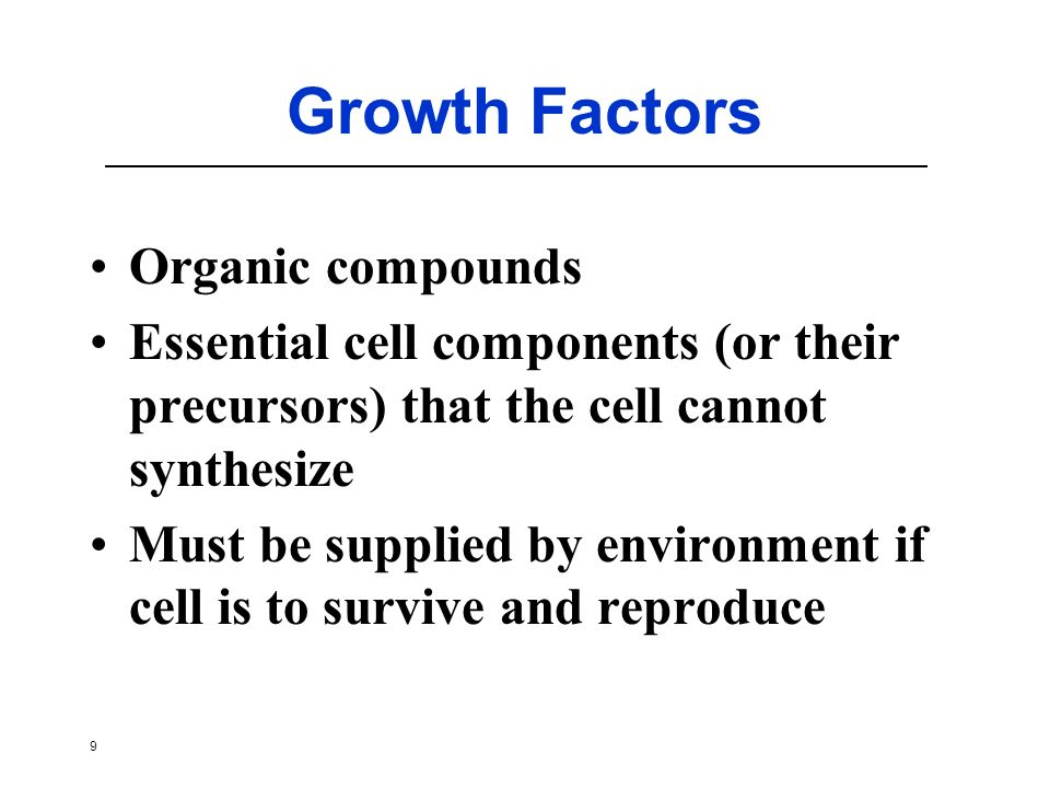 Growth Factors Organic compounds