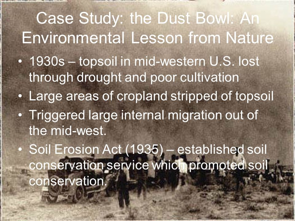 Food and soil resources ppt download for Soil conservation act