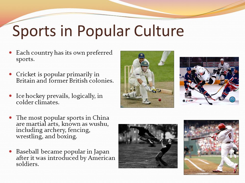 sports in pop culture Leading the charge into this emerging hybrid of video games, traditional sports  and pop culture is major league gaming major league.