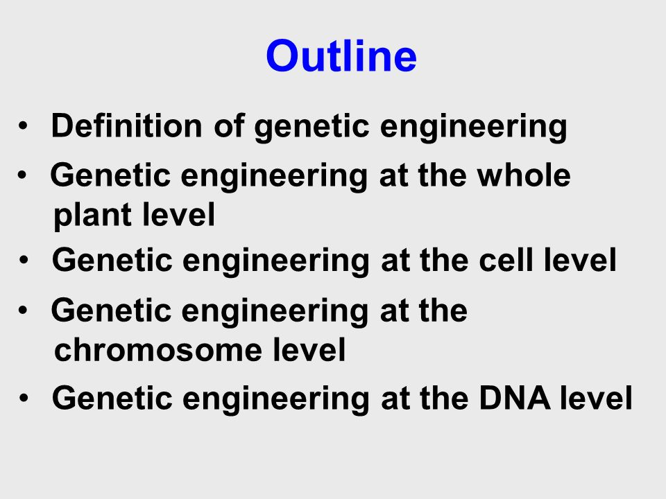 "genetic engineering research papers Genetic engineering should not be controlled by the law, because the people controlling the law are not credited on knowing about what it is they are controlling "" 1st revised thesis."