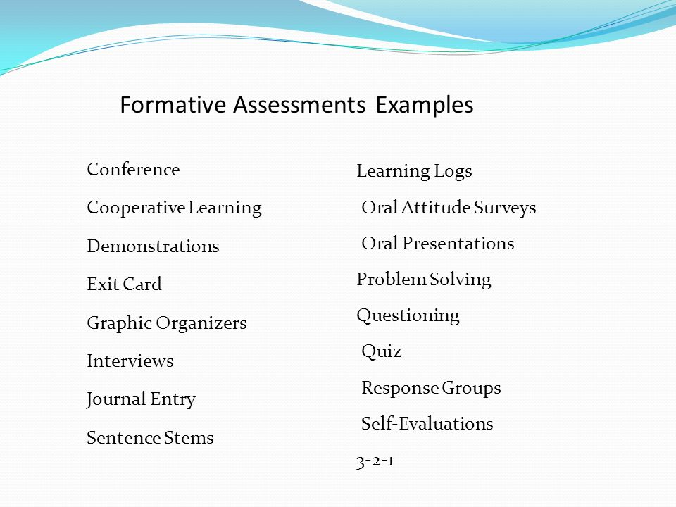 Assessment Formative Summative And Performance Based