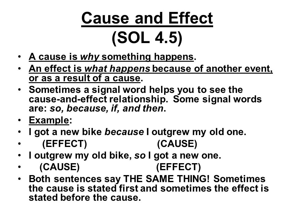 ENG Using Transitional Words and Phrases - Cause effect relationship
