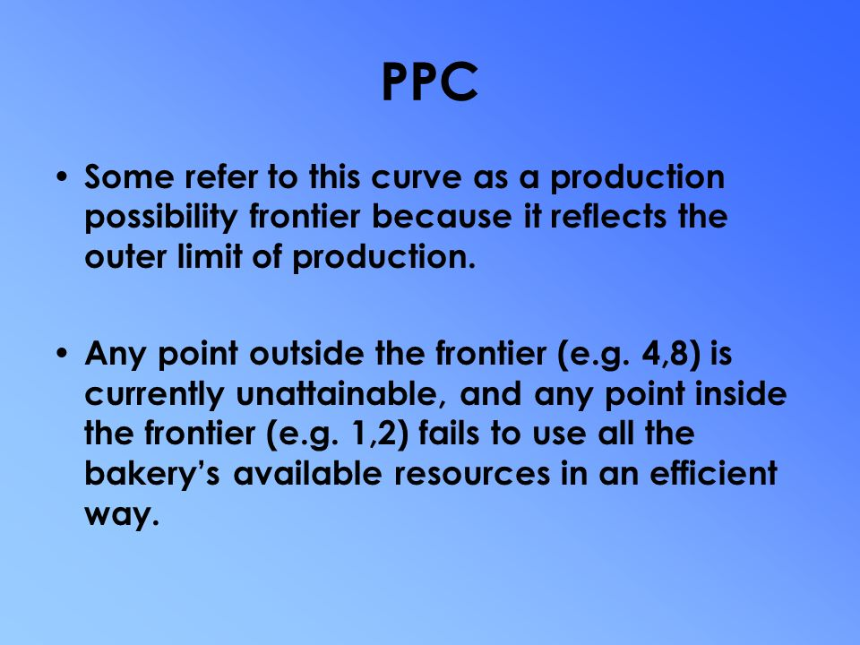 production possibilities curve pcc Introductory terms and concepts: opportunity costs, marginal decision making,  and the use of the production possibility curve demand analysis: identify the.