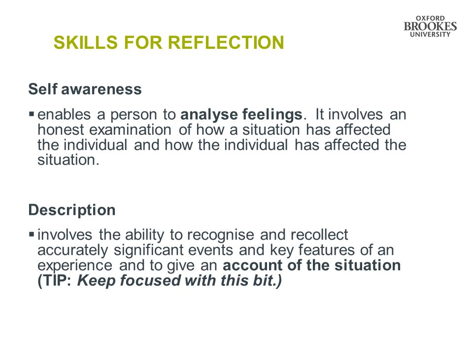 Reflections: Communication Skill