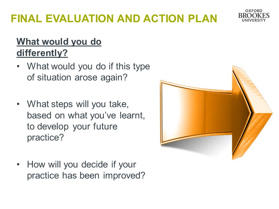 FINAL EVALUATION AND ACTION PLAN