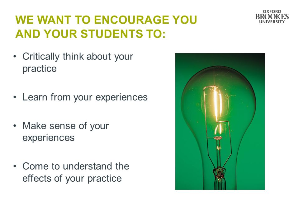 We want to encourage you AND YOUR STUDENTS to: