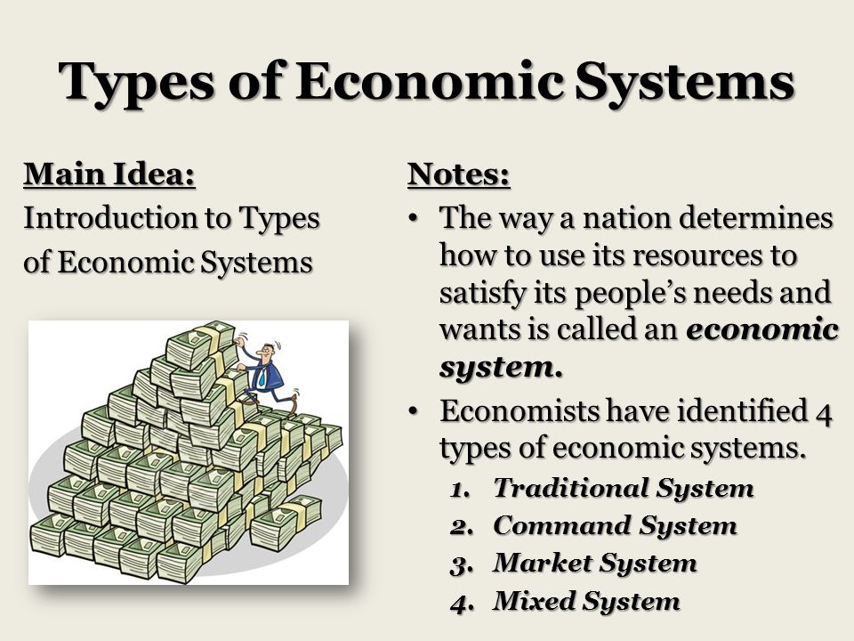 four types economic systems essay