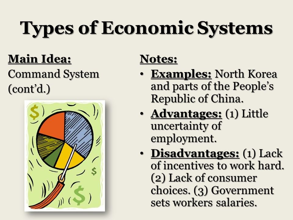main attributes of economic systems The different kinds of economic systems are market economy, planned economy, centrally planned economy, socialist, and communist economies all these are characterized by the ownership of the economics resources and the allocation of the same for instance, in a capitalist economy, the capital is.