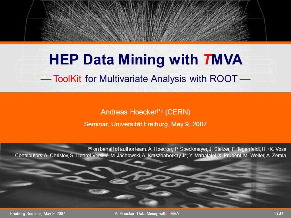 HEP Data Mining with TMVA