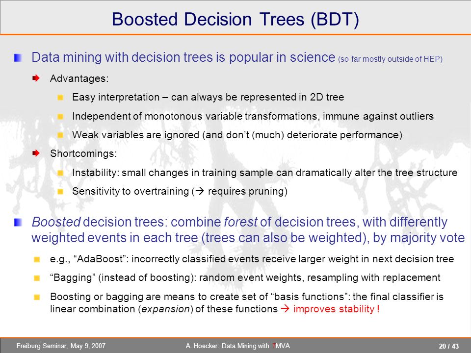 Boosted Decision Trees (BDT)