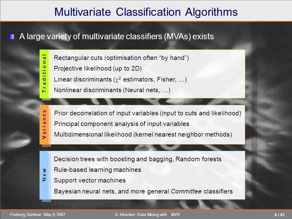 Multivariate Classification Algorithms