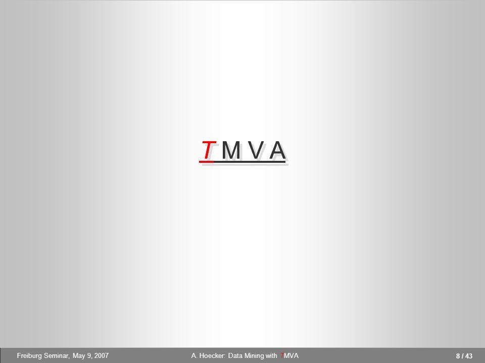 A. Hoecker: Data Mining with TMVA