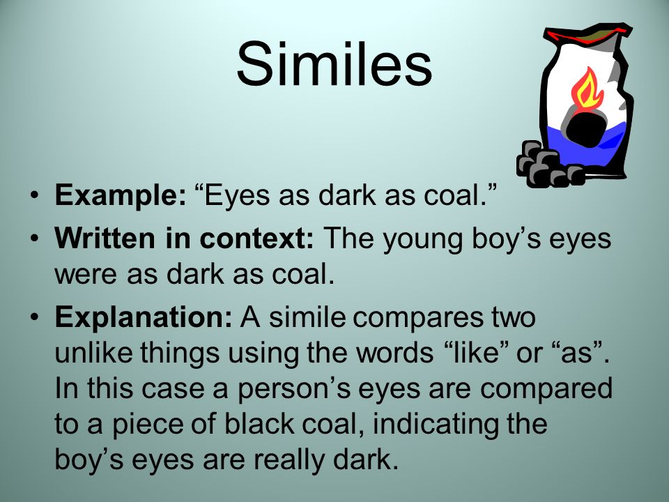 examples of simile in the boy at the window Are you looking for simile examples  simile examples a simile is a comparison between two different  i need a simile the cellphone is like a the boy is small.