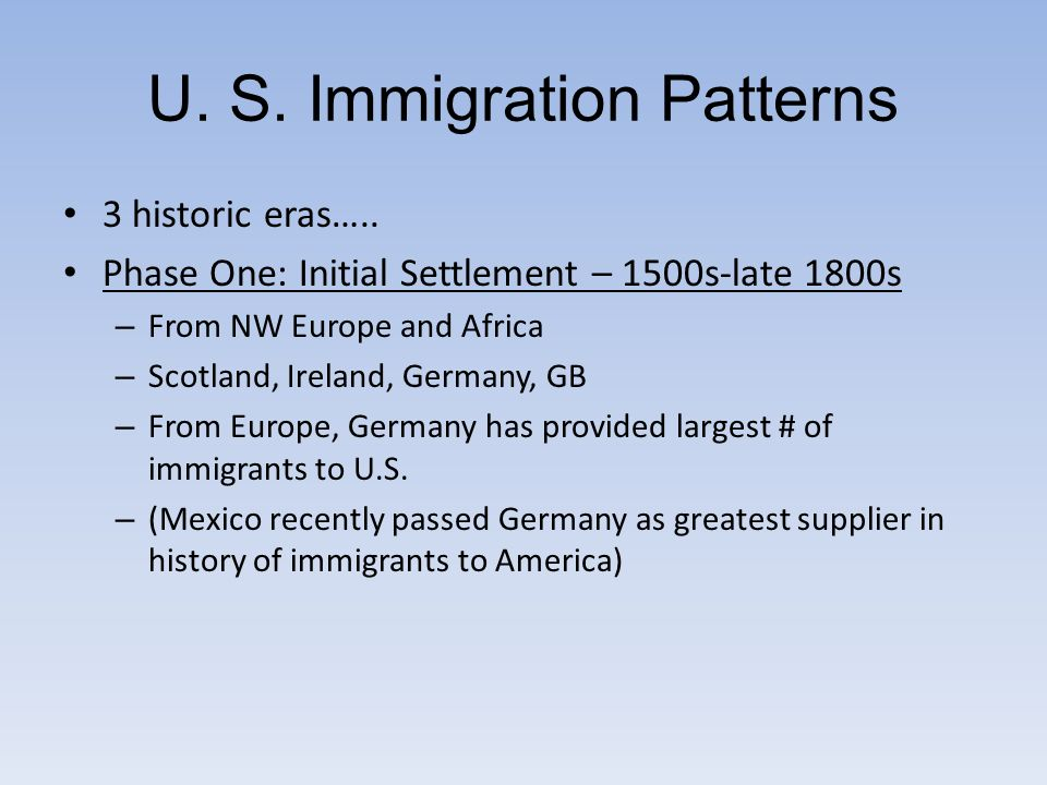 an introduction to the history of the immigration from italy russia and ireland He stated that �irish-born� pertains to people who were born in ireland and ï  immigration i introduction a  russia history:.