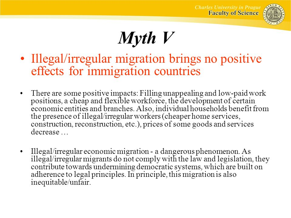 effects of legal and illegal immigration on microeconomics The effects of immigration on the total output and income of the us economy can be studied by comparing output per worker and employment in states that have had.