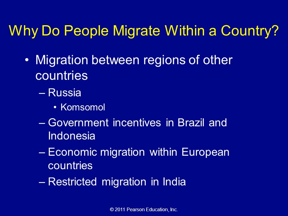 The cultural landscape an introduction to human geography ppt why do people migrate within a country sciox Choice Image