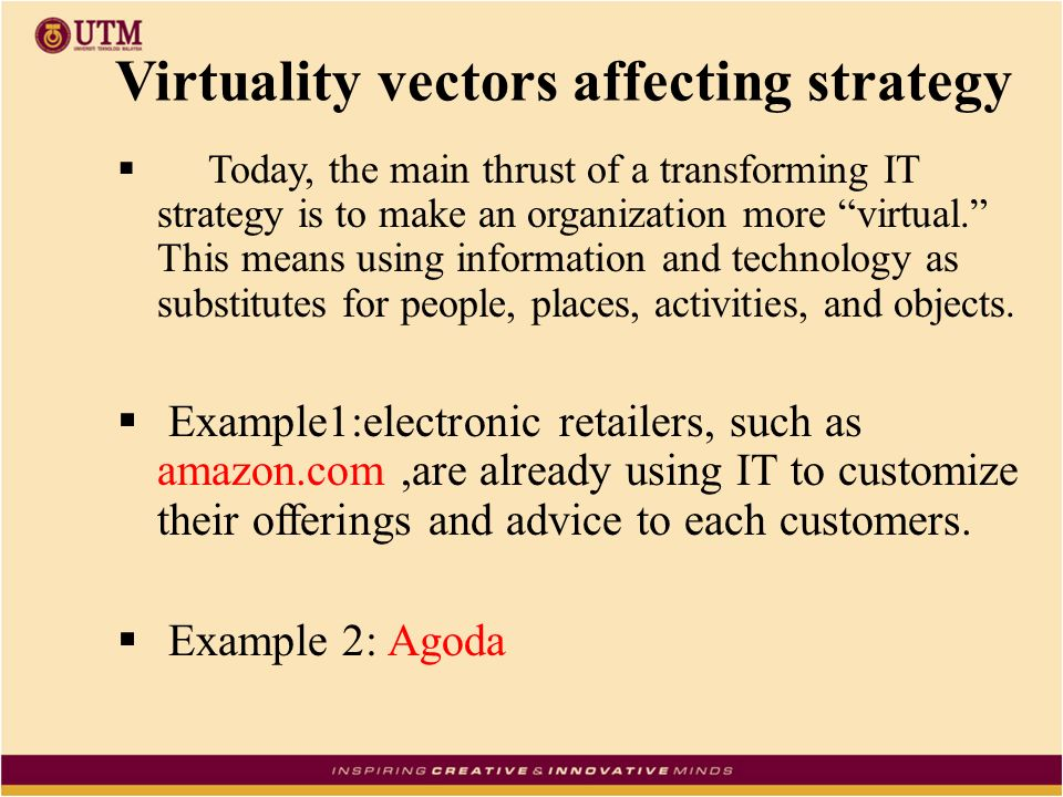 information technology strategy examples
