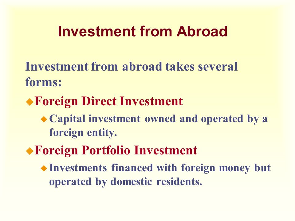 Investment from Abroad
