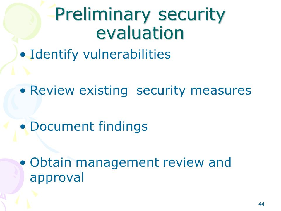 preliminary security assessment Preliminary project security assessment ito information security branch ver 20 (december 16, 2013) if the proposed plan or design of the project changes, this form must be reviewed by the project manager and the business owner, and.