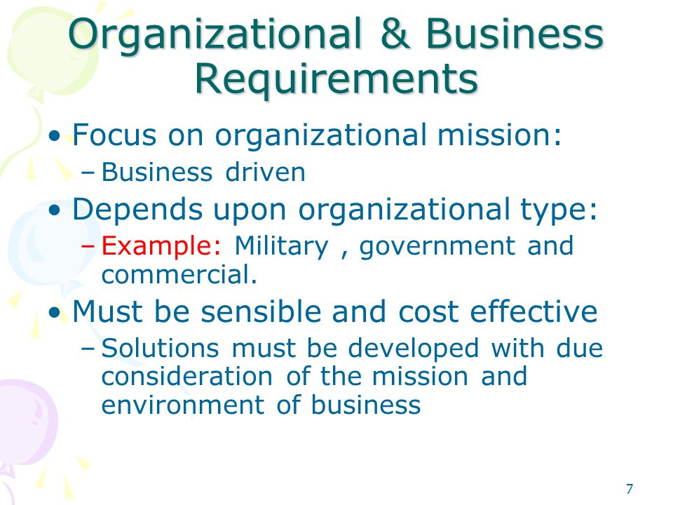 business environment and organizational purpose Traditional internal control environment must be satisfied •management philosophy and operating style •organizational structure the business organization.