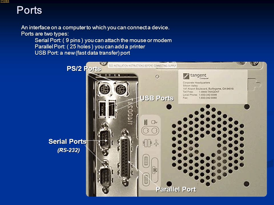 Introduction to computer and software ppt download - Parallel port and serial port ...
