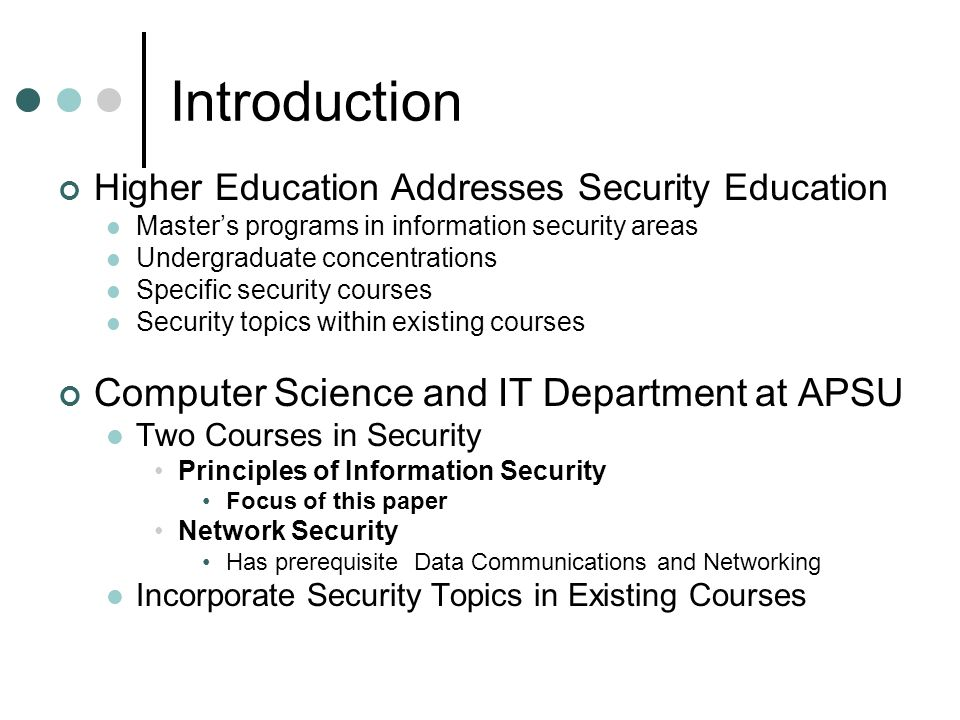 thesis information security edu Capella's online phd in information technology program is designed to prepare you for leadership in the it discipline.