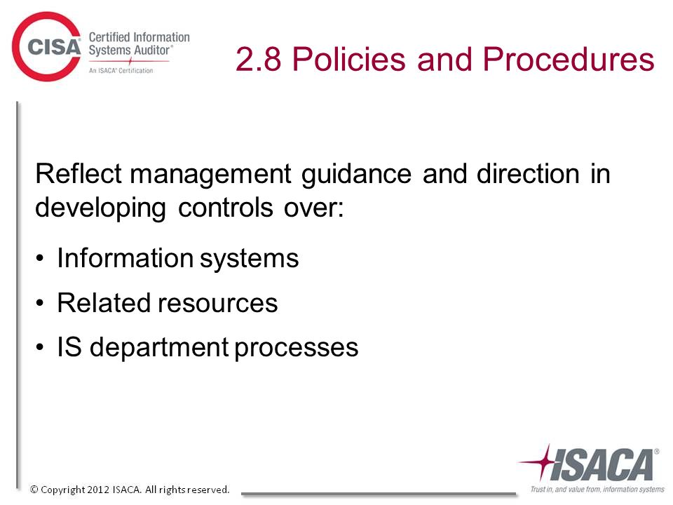 review of systems policies and procedures Section 102 directs the office of the auditor general to review the chapter's five management system policies and procedures five management system policies and.