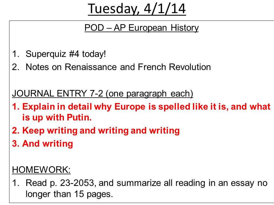 ap euro frq on renaissance essay Writing essays: ap euro style mr cox mr mancini ap history courses at west are writing intensive so you are the best prepared for district exams, the college board exam, sat's, pssa and your future academic careers.