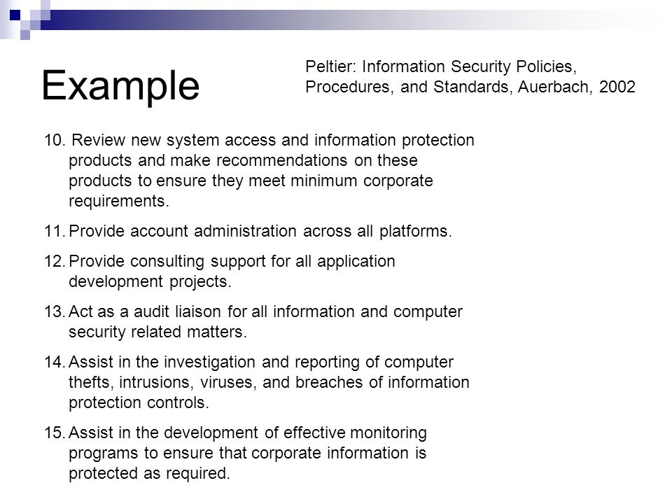 information security policy document template