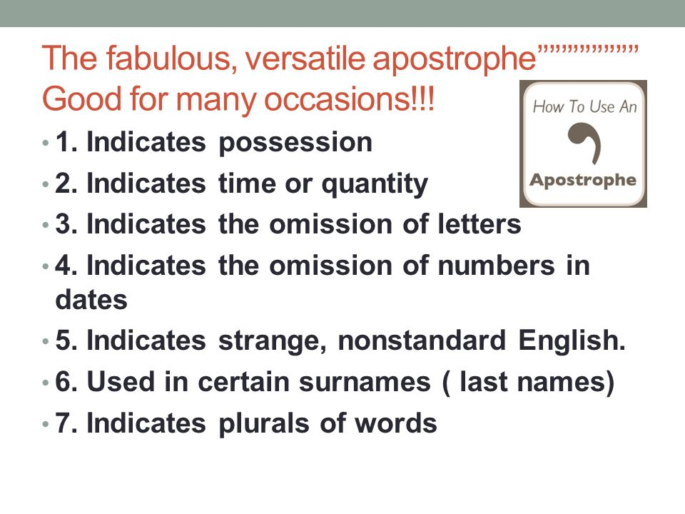 Apostrophe Period 2 6 Gwb Period 1 4 Gwb Ppt Video