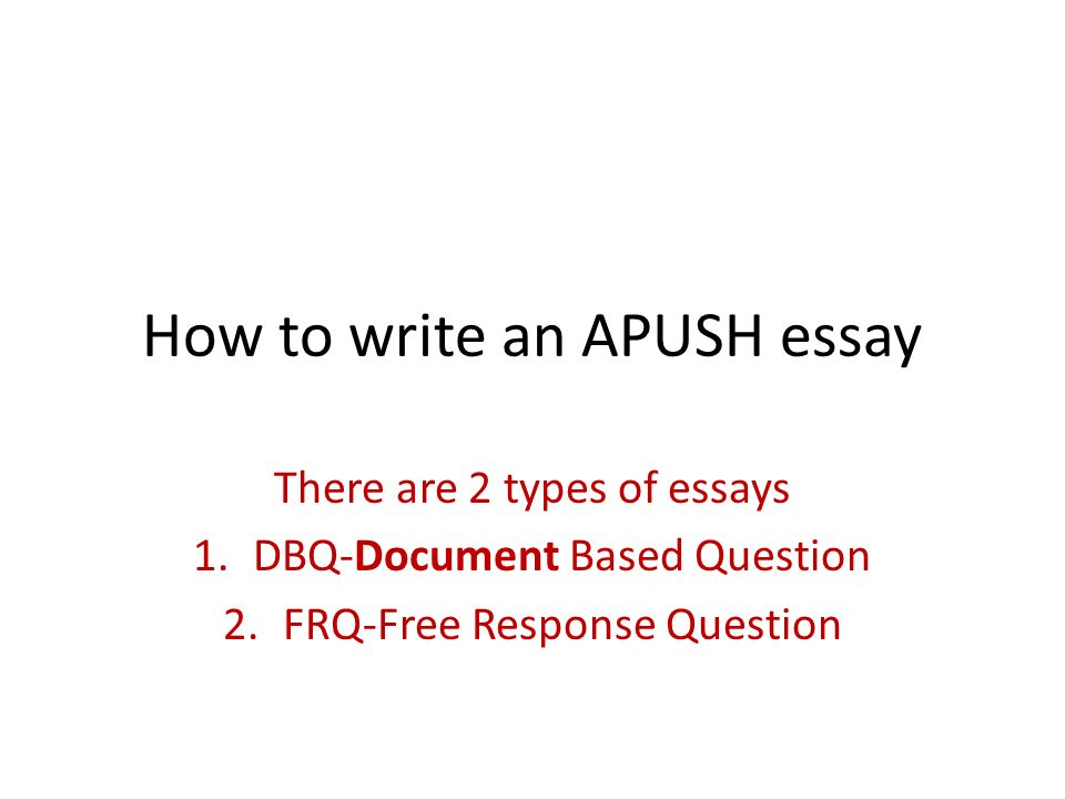 Data based question essay
