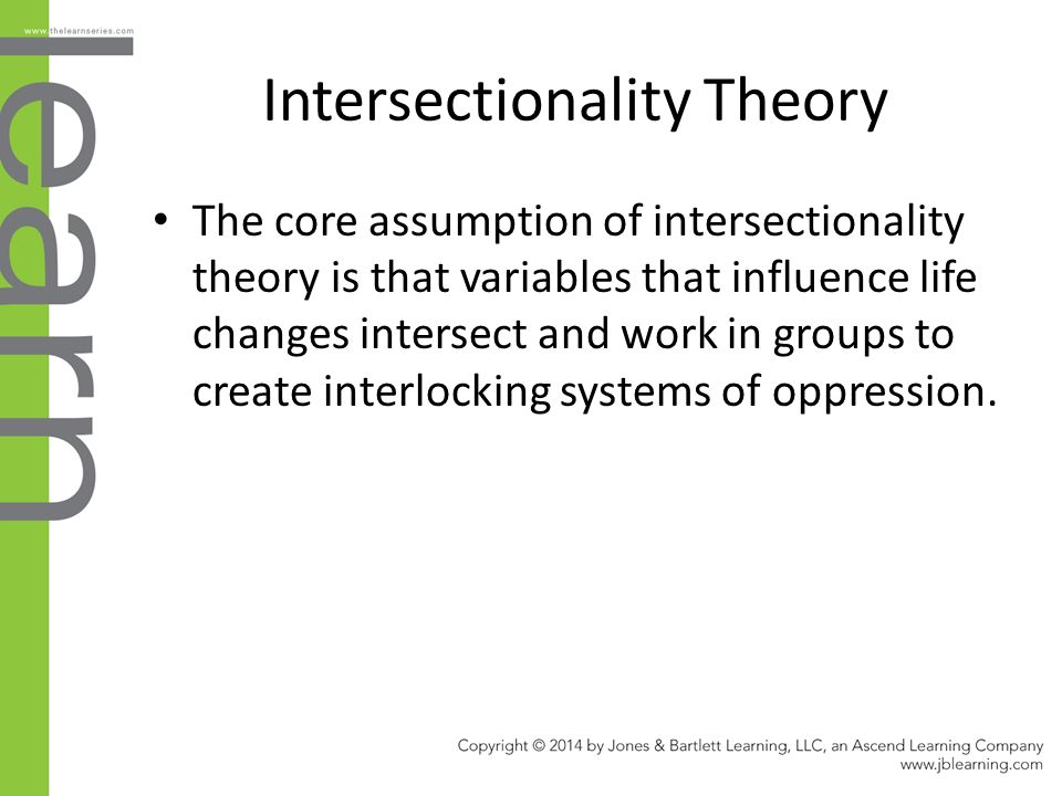 collins theory of intersectionality essay Intersectionality scholars reject universalizing and ahistorical approaches that try to explain, for example, patriarchal organization for all places at all times references: baca zinn, m & thornton dill, b (1996) theorizing difference from multiracial feminism.