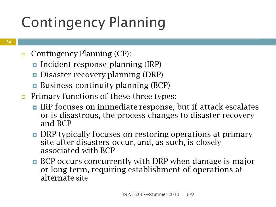 sony contingency plan