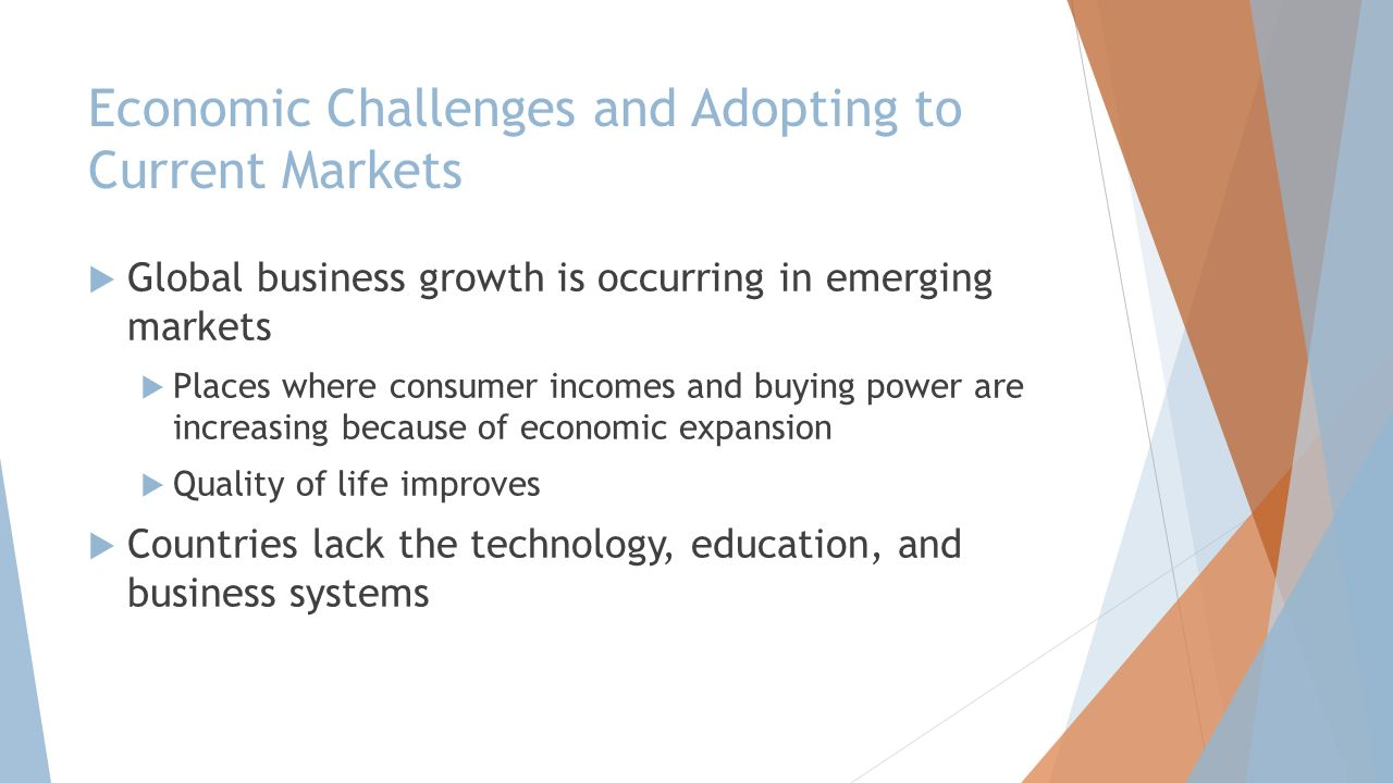 Economic Challenges and Adopting to Current Markets