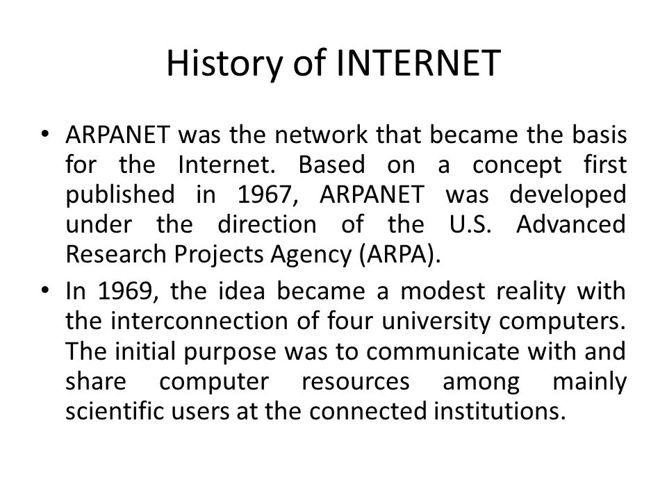 arpanet the origin of the internet Internet history of 1960s 1962   the origin of graphical programs for computer-aided design  roberts puts together his plan for the arpanet.