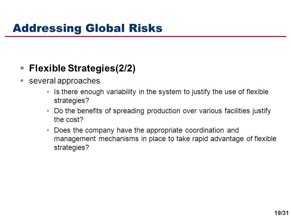 Addressing Global Risks