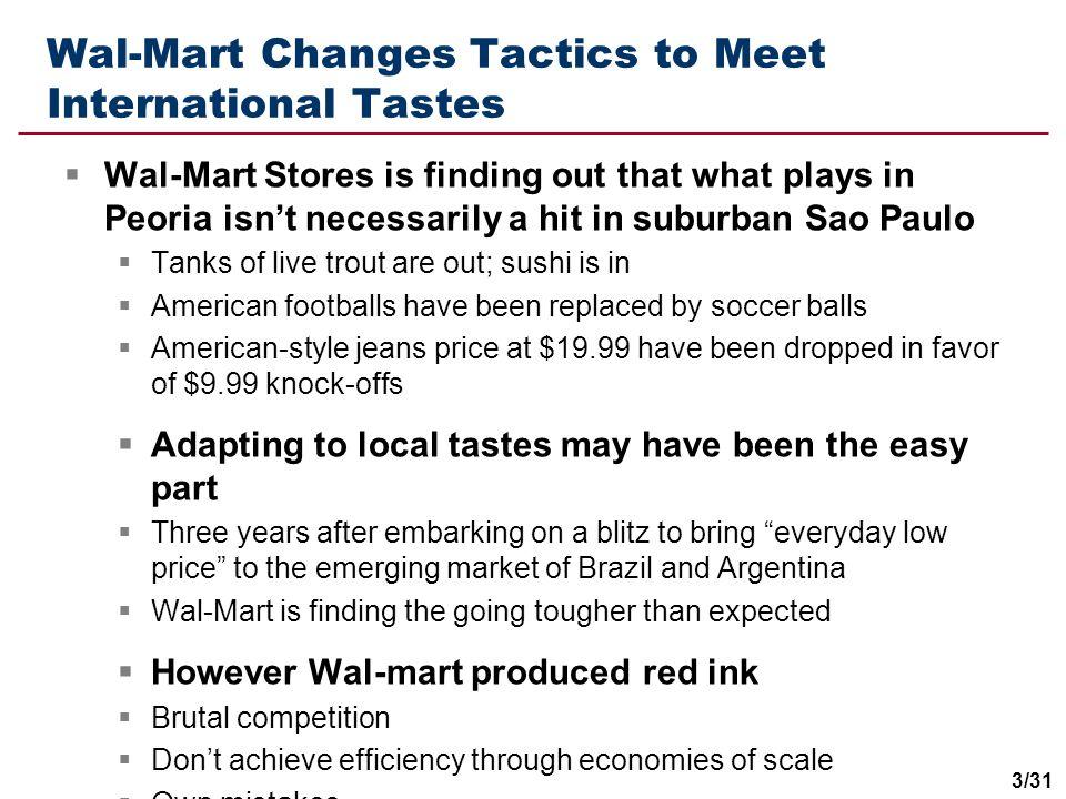 Wal-Mart Changes Tactics to Meet International Tastes