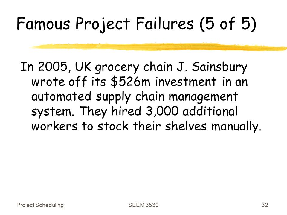 j sainsbury failed it system J sainsbury plc, (otcqx:jsnsf) (otcqx:jsaiy) along with the other major supermarkets, has been through the wars in recent years most people know the story by now, if only because of the more.