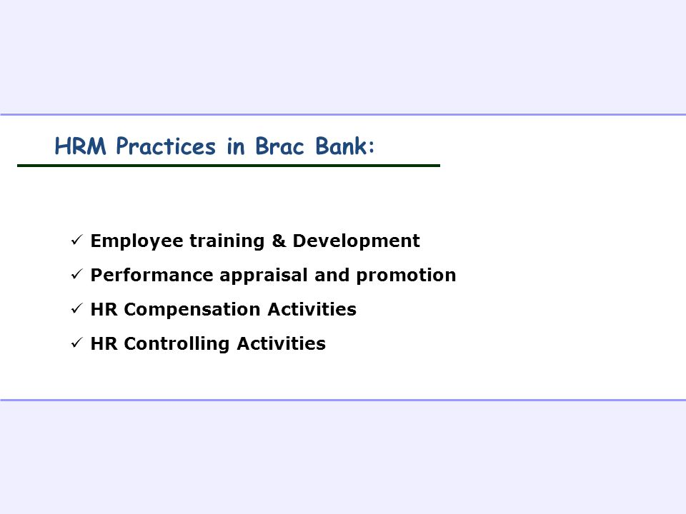 hrm practices in indian banks The present study is to find out the human resource management practices and its outcomes namely job satisfaction and organizational commitment in indian public sector banks.