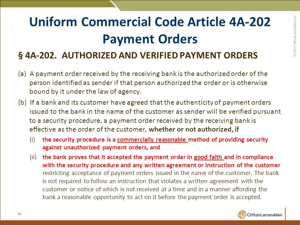 Uniform Commercial Article 33