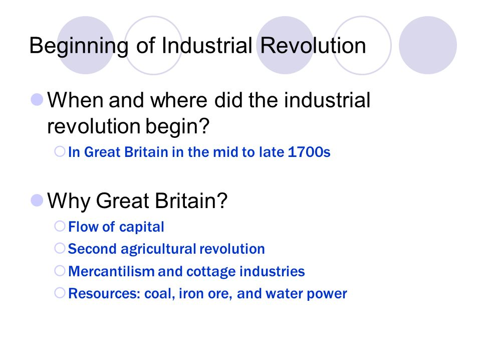 why did the industrial revolution occur Get information, facts, and pictures about industrial revolution at encyclopediacom make research projects and school reports about industrial revolution easy with credible articles from our free, online encyclopedia and dictionary.