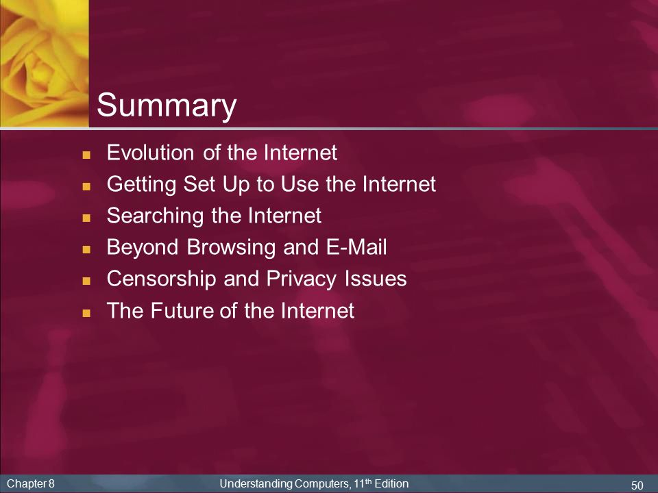 an analysis of the concept of internet and the network of millions of computers worldwide Read the global internet report 2017 to  the very first connections between computers nearly fifty years ago have been  security and network related.